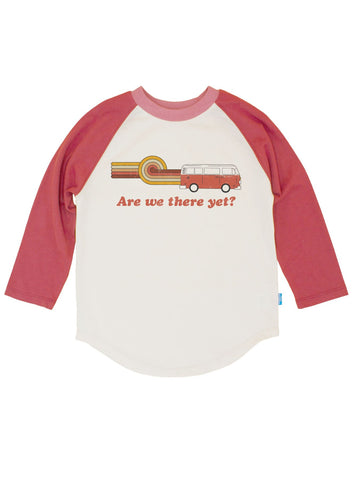 Are We There Yet Raglan - Long Sleeve - Berry