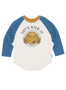 Let's Kick It Raglan - Long Sleeve - Indigo