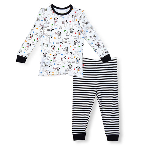Raise The Woof Modal Magnetic Toddler Pajama Set