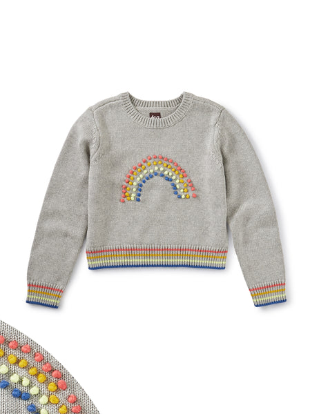 Rainbow Pompom Sweater