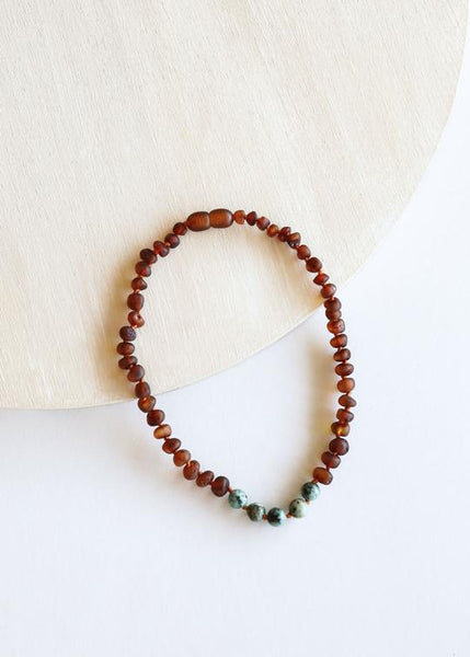 "Raw Amber Necklace - 13"" - Variety"