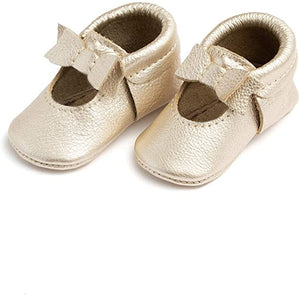 Platinum Ballet Flat Mini Sole Moccasin