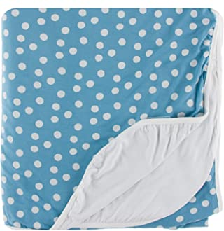 Blue Moon Snowballs Print Double Throw Blanket