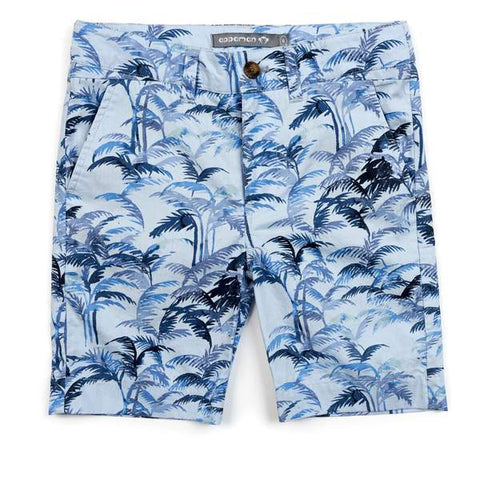 Trouser Short - Blue Palms