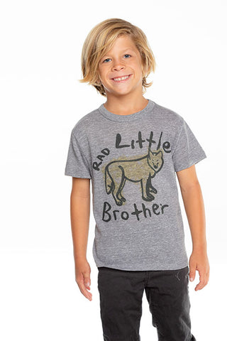 Rad Little Bro Crew Neck Tee - Streaky Grey