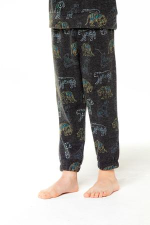 Stealth Tiger Knit Slouchy Pants - Union Black