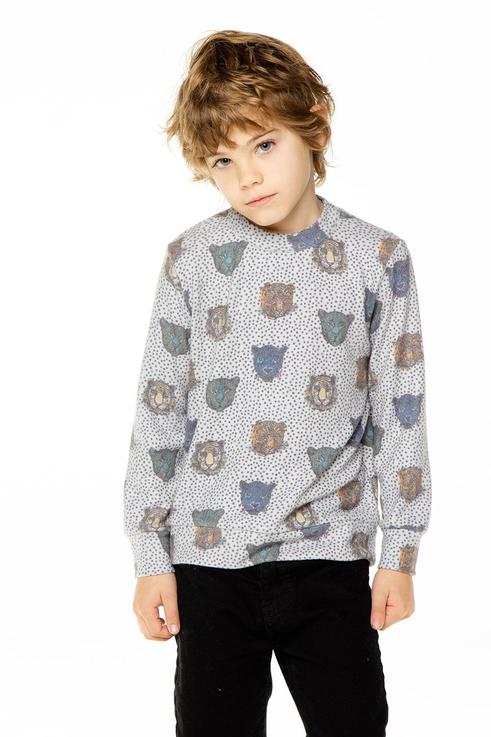 Wildcat Party Love Knit Long Sleeve Crew Neck Pullover