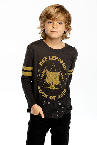 Def Leopard Rock of Ages Long Sleeve Crew Neck Tee
