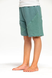 Arbor Linen French Terry Blocked Reverse Panel Shorts