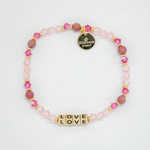 Little Words Project Bracelet - Gold Block