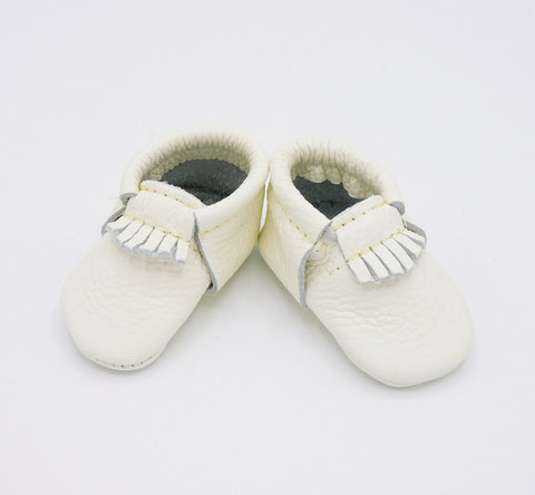 The First Pair - City Moccasin - Blanc/White