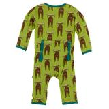Meadow Bad Moose Print Coverall with Zipper