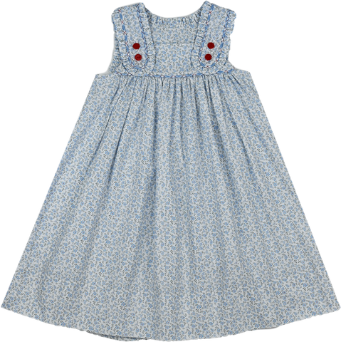 Frances Flap Dress - Blue Floral - Keep Blooming