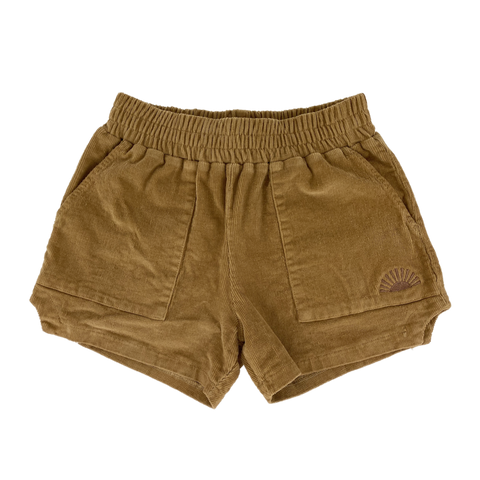 Camel Corduroy Dad Shorts
