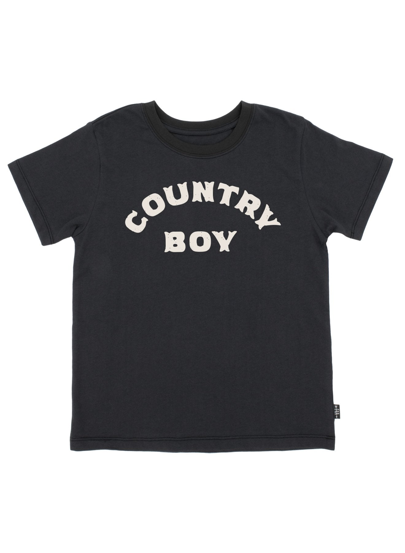 Country Boy Vintage Tee - Washed Black