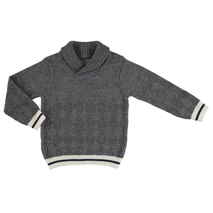 Collar Neck Sweater - Gray