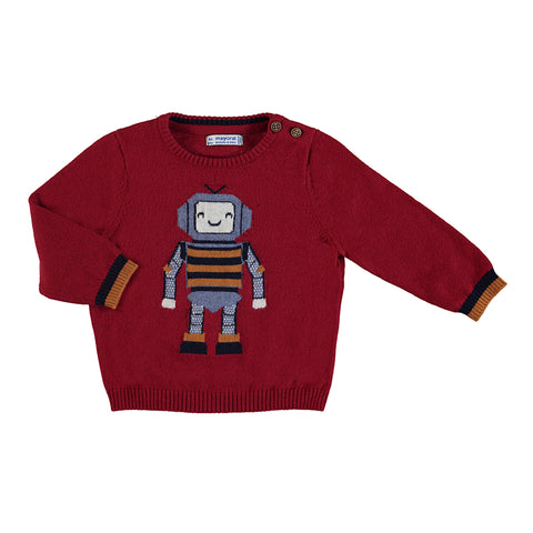 Robot Sweater - Red