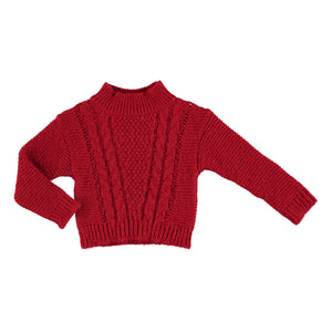 Girls Red Sparkle Sweater
