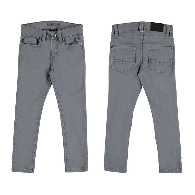 Boys 5 Pocket Elastan Skinny Pants - Gray