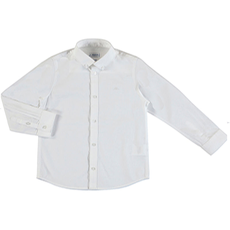 Long Sleeve Button Down Shirt - White