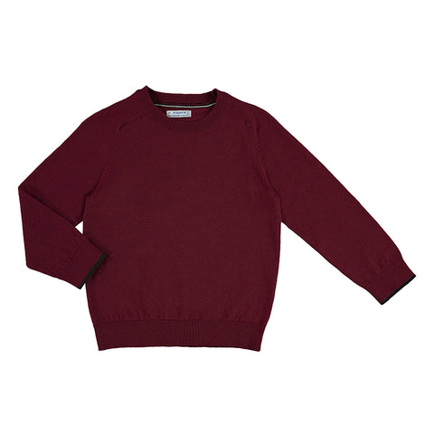 Basic Cotton Sweater - Burgundy
