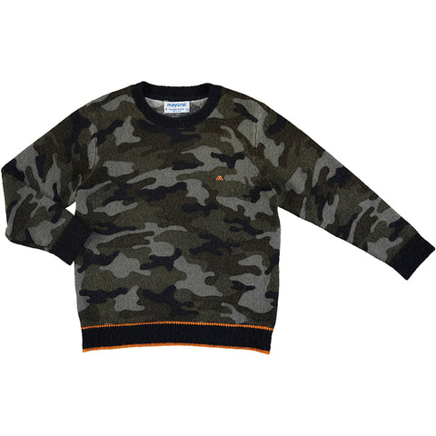 Camouflage Sweater - Navy