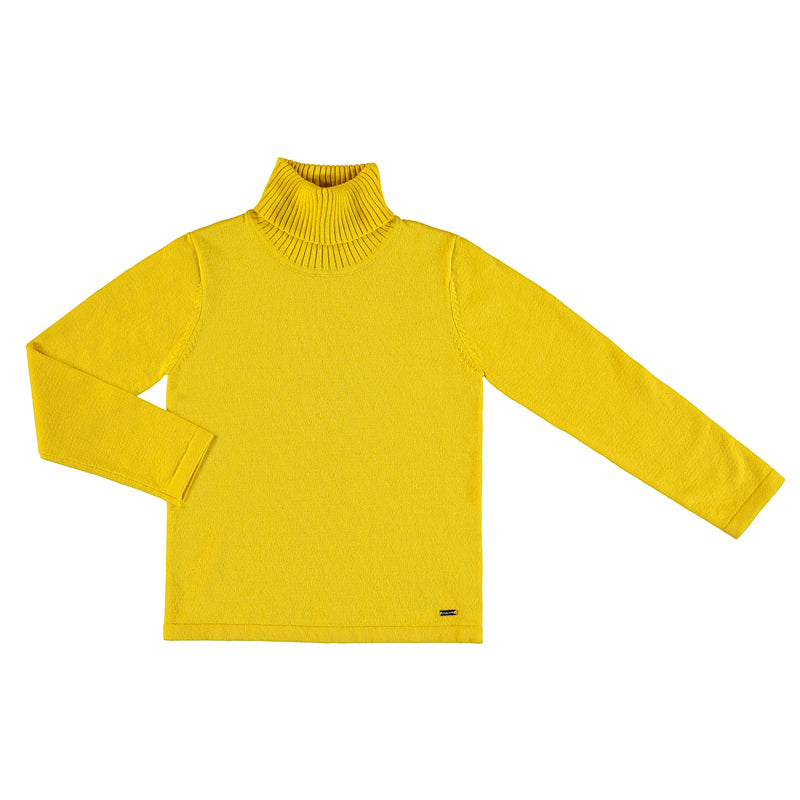 Basic Knit Turtleneck - Yellow