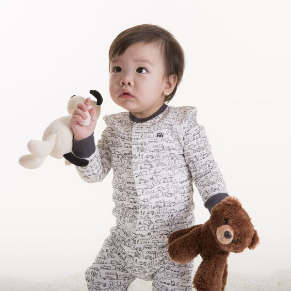 Going Places Organic Cotton Magnetic Coverall