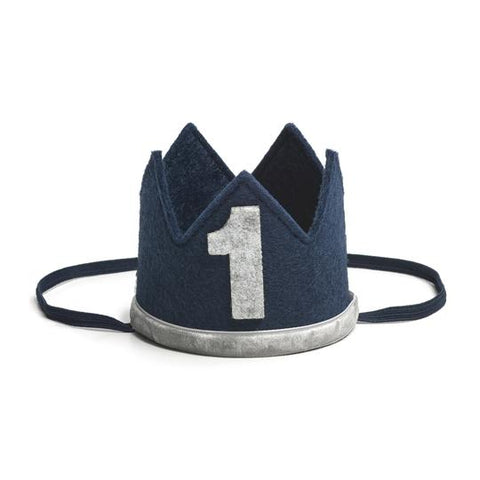 Navy/Gray #1 Boy Crown