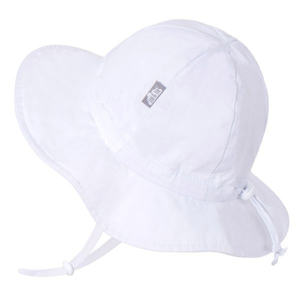 White Cotton Floppy Sun Hat