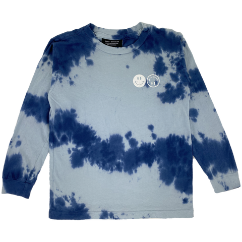 Have a Rad Day Long Sleeve Tee - Navy Tie Dye