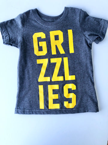 Stacked Grizzlies Heathered Gray T-Shirt
