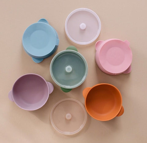 Silicone Bowl with Lid - Variety