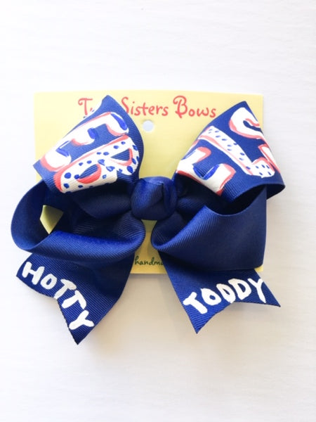Hand Painted Single Ribbon Bow - Large