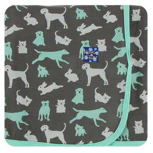 Stone Domestic Animals Print Swaddling Blanket