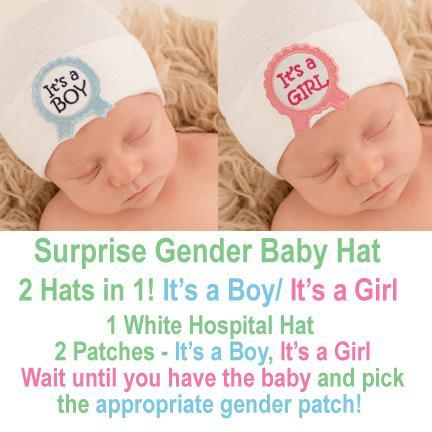 Nursery Hat - 2-in-One - It's a BOY/GIRL Ribbon Patches - One Size