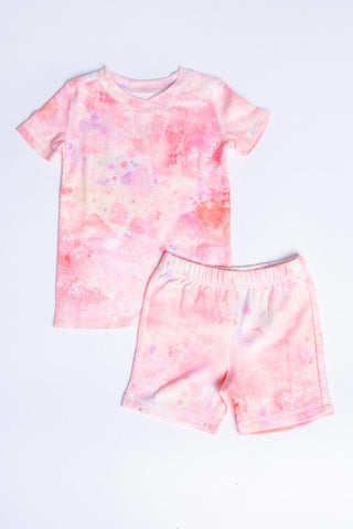 Coral Peachy Shorty Pajama Set