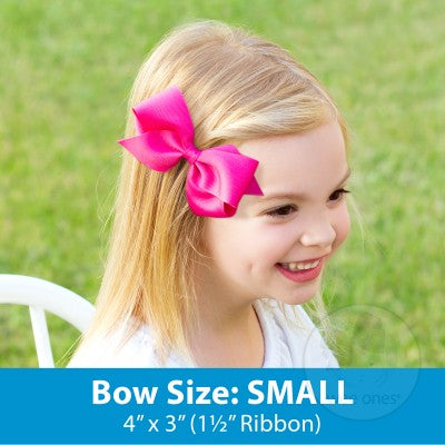Small Solid Grosgrain Basic Bow - Variety