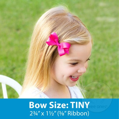 Mini Grosgrain Bow with Stitched Edge - Variety