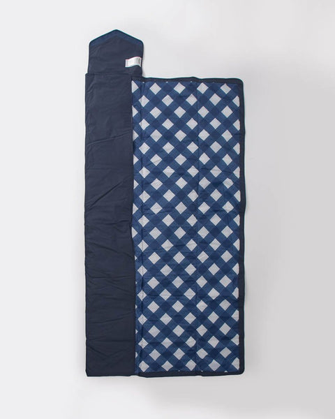 Outdoor Blanket - Navy Plaid - 5 x 7