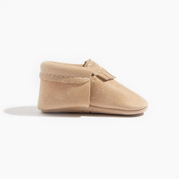 Weathered Brown Mini Sole City Moccasin