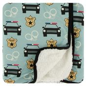 Jade Law Enforcement - Print Sherpa Lined Stroller Blanket