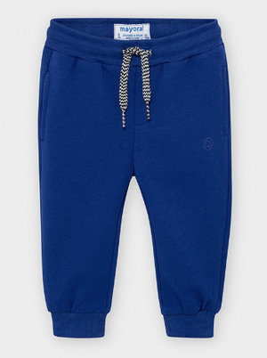 Basic Cuffed Fleece Jogger- Azul Pop