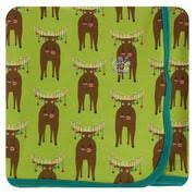 Meadow Bad Moose Print Swaddling Blanket