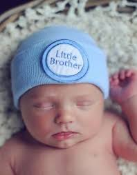 Nursery Hat - Blue Little Brother - One Size