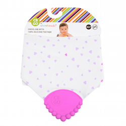 Chewbeads Drool Bib with Silicone Teether