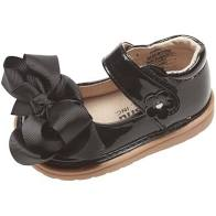 Mooshu Trainers Mary Jane with Bow - Black Patent