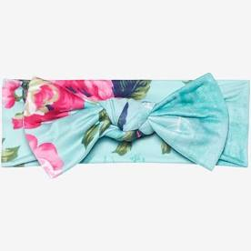 Infant Headwrap - Aqua Floral