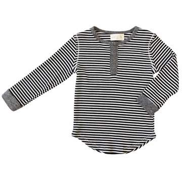 Parker Henley Shirt - Black Stripe
