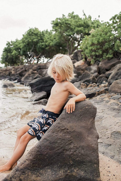 Kid's Lava Rainbow Retro Boardshorts